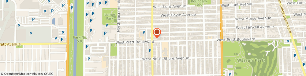 Route/map/directions to Eye Surgeons SC, 60645 Chicago, 6801 N California Ave