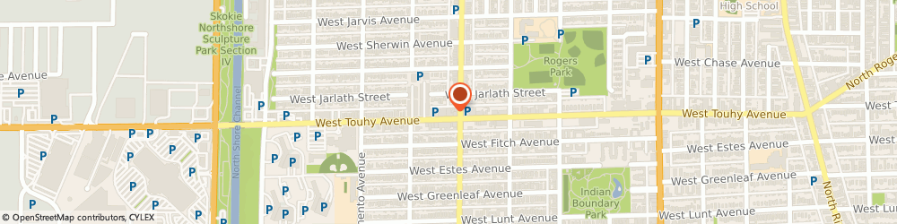 Route/map/directions to i-f Optical Company, 60645 Chicago, 2812 W Touhy Ave