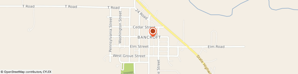 Route/map/directions to Progressive Insurance, 68004 Bancroft, 402 Main St