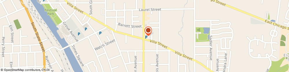 Route/map/directions to Walgreens, 60120 Elgin, 600 Villa St