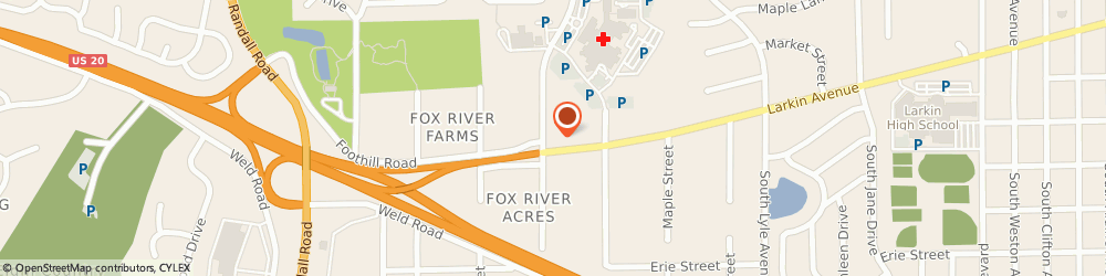 Route/map/directions to Pickle Barrell Cafe, 60123 Elgin, 2090 LARKIN AVE