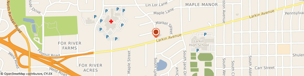 Route/map/directions to Walgreens, 60123 Elgin, 1700 Larkin Ave