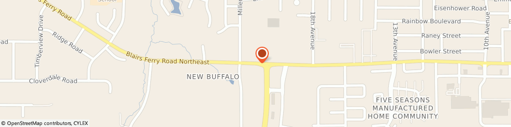 Route/map/directions to POPEYES, 52405 Cedar Rapids, 370 Blairs Ferry Road NE