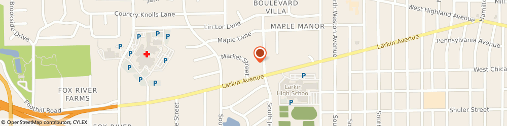 Route/map/directions to Chase Bank, 60123 Elgin, 1600 Larkin Ave
