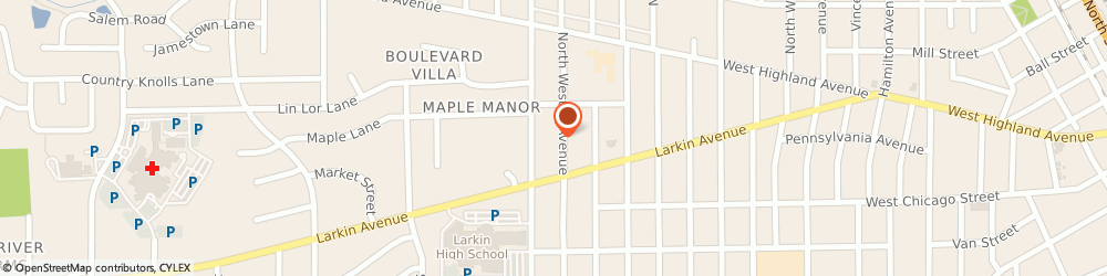 Route/map/directions to Del Cork Studio, 60123 Elgin, 54 N Weston Ave
