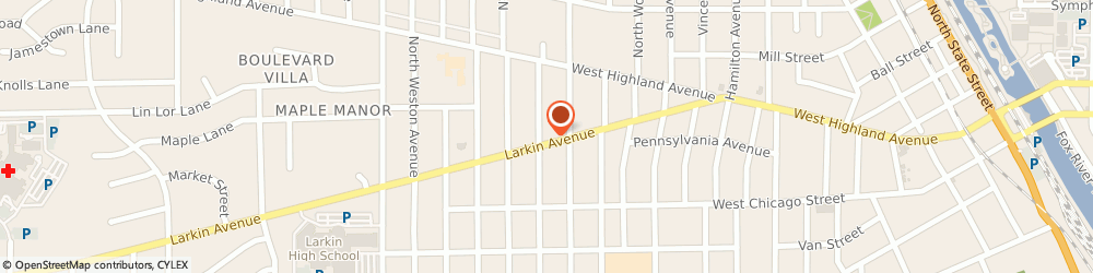 Route/map/directions to Cahow Bradley Lawyer, 60123 Elgin, 1070 Larkin Ave 2
