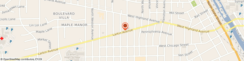 Route/map/directions to Barry Kevin r Attorneys, 60123 Elgin, 1070 Larkin Avenue