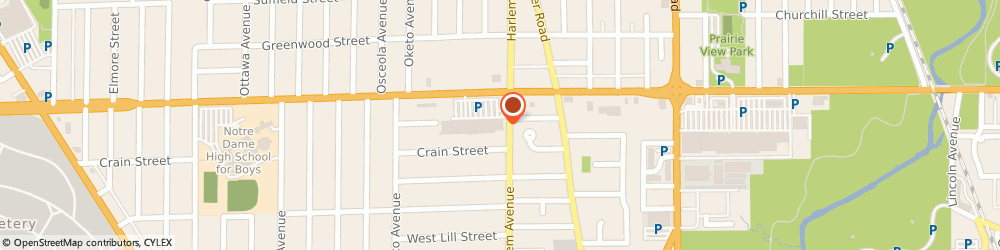 Route/map/directions to American Mattress, 60714 Niles, 7203 W Dempster St