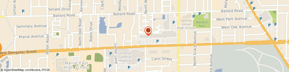 Route/map/directions to Scrubs & Beyond, 60714 Niles, 8808 W Dempster Street