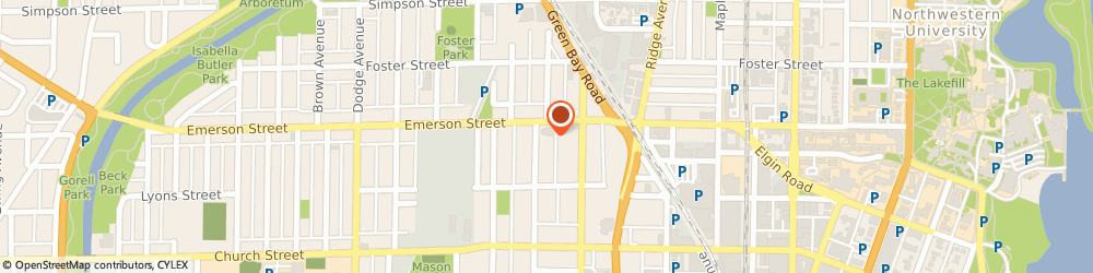 Route/map/directions to Robinson Bus Service Incorporated, 60201 Evanston, 1528 EMERSON STREET