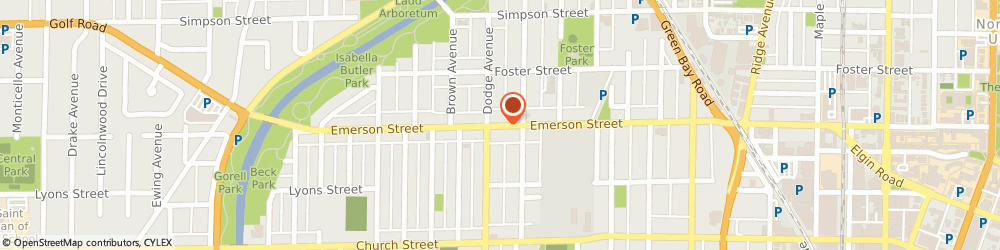 Route/map/directions to Giant Cleaners, 60201 Evanston, 1831 EMERSON STREET