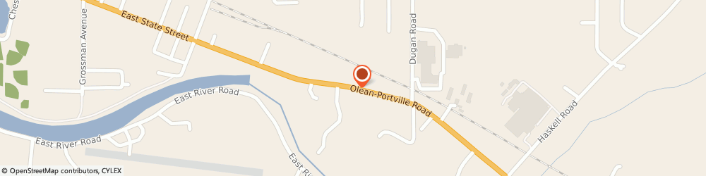 Route/map/directions to At&t - Aaa Travel, 14760 Olean, 1657  PORTVILLE ROAD