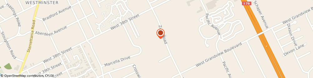 Route/map/directions to Local Std Testing, 16506 Erie, 4108 Zuck Road