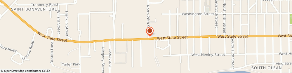Route/map/directions to Friendly's, 14760 Olean, 2502 W State St