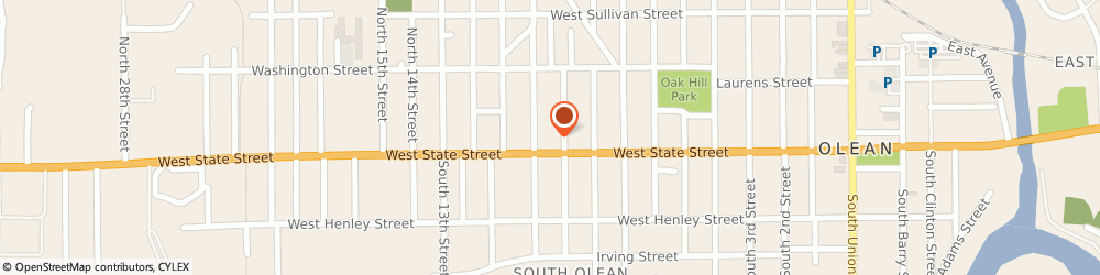 Route/map/directions to AutoZone Auto Parts, 14760 Olean, 1008 W State St