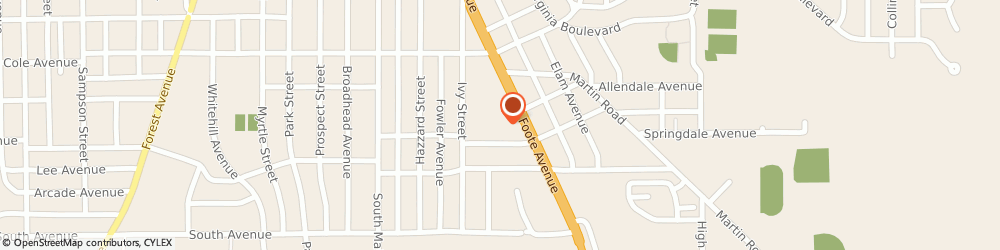 Route/map/directions to Subway, 14701 Jamestown, 760A Foote Ave