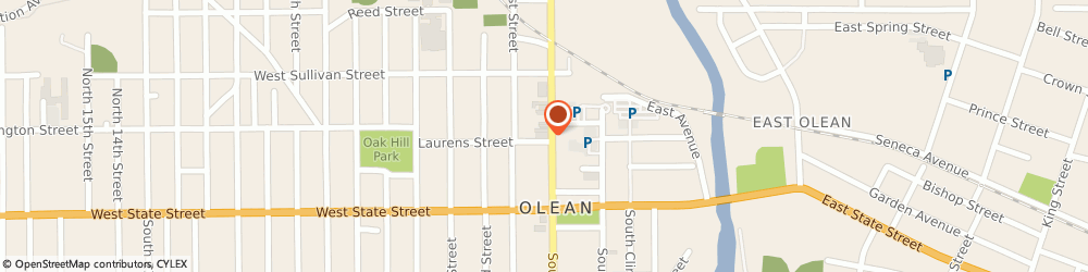 Route/map/directions to Community Bank n a, 14760 Olean, 201 N UNION ST # 608