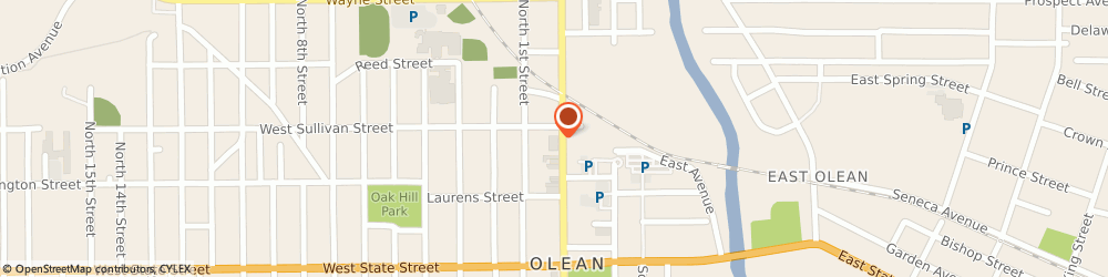 Route/map/directions to Rite Aid, 14760 Olean, 265 North Union Street