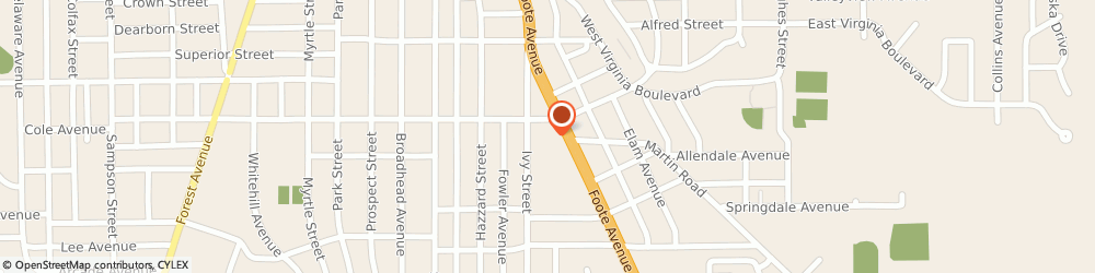Route/map/directions to The UPS Store, 14701 Jamestown, 708 Foote Ave