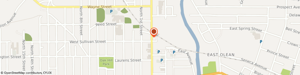 Route/map/directions to Fraternal Order of Eagles, 14760 Olean, 311 NORTH UNION STREET