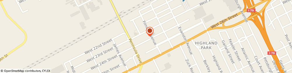 Route/map/directions to Parker's Garage, 16506 Erie, 2827 W 23Rd St