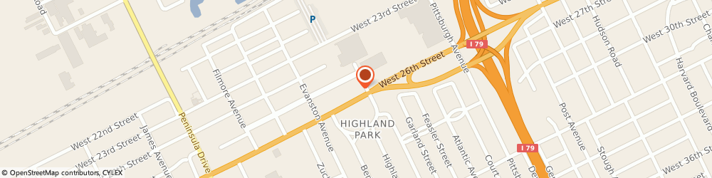 Route/map/directions to KeyBank Erie ATM, 16506 Erie, 2520 W 26Th St