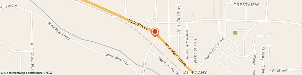 Route/map/directions to Citibank ATM, 14706 Allegany, 183 W Main St