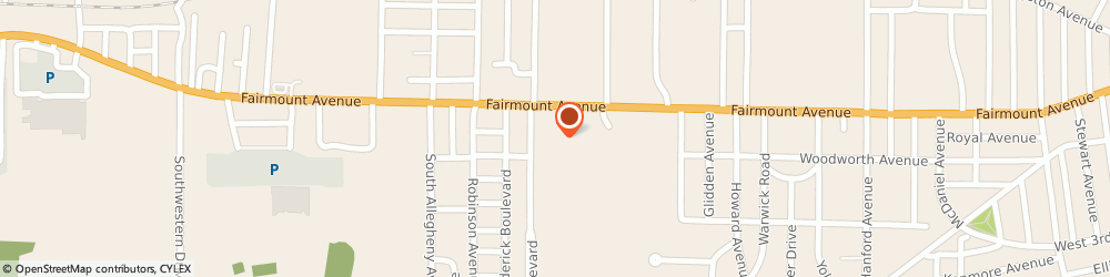 Route/map/directions to Subway, 14701 Jamestown, 707 Fairmount Ave