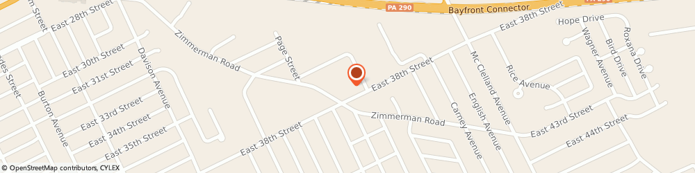 Route/map/directions to About My Health Hair Follicle Drug Testing, 16510 Erie, 2020 E 38Th St