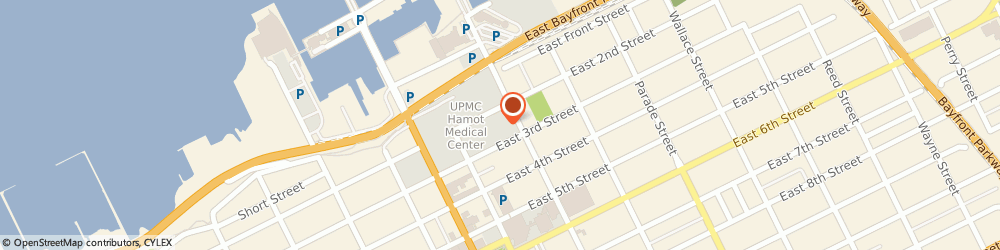 Route/map/directions to Encompass Health Rehabilitation Hospital of Erie, 16507 Erie, 143 E 2nd St.