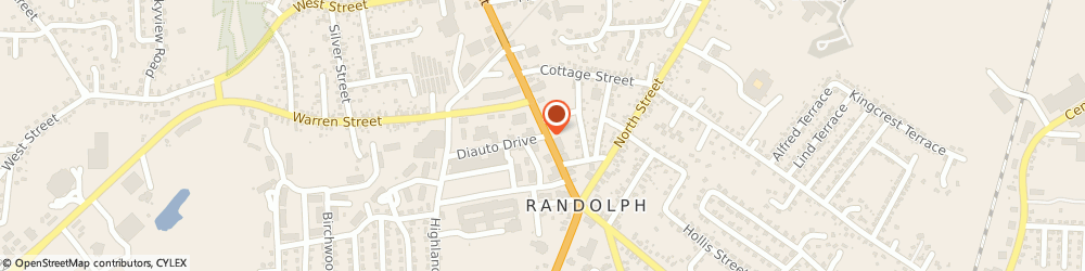 Route/map/directions to RAH Federal Credit Union, 02368 Randolph, 45 DIAUTO DRIVE