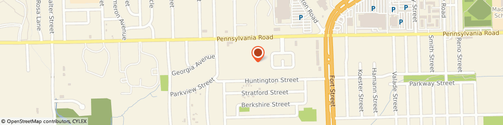 Route/map/directions to Rivergate Terrace, 48192 Riverview, 14141 Pennsylvania Road
