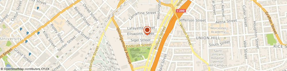 Route/map/directions to Time Express Delivery Svc, 01610 Worcester, 35 ELLSWORTH ST