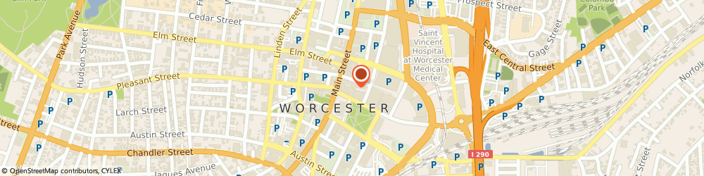 Route/map/directions to KIMS, 01614 Worcester, 22 FRONT STREET