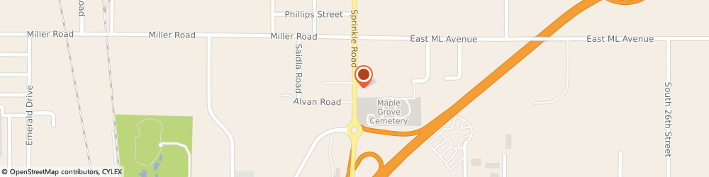 Route/map/directions to Modern Woodmen Of America, 49001 Kalamazoo, 2700 S SPRINKLE RD