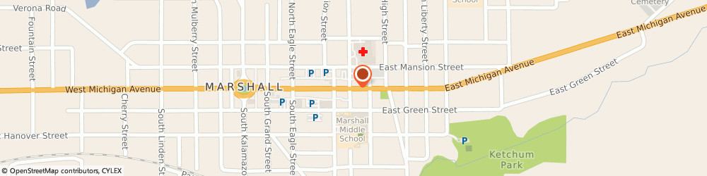 Route/map/directions to Buckenberger Insurance, 49068 Marshall, 221 E Michigan Ave