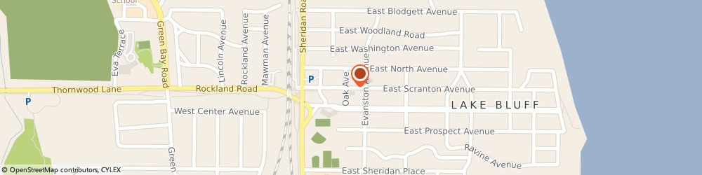 Route/map/directions to PNC BANK, 60044 Lake Bluff, 120 East Scranton Avenue