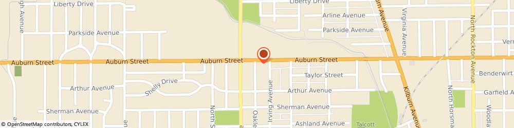 Route/map/directions to POPEYES, 61101 Rockford, 3622 Auburn St