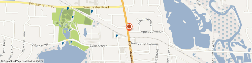 Route/map/directions to Farmers Insurance - William Murphy, 60048 Libertyville, 801 N Milwaukee Ave