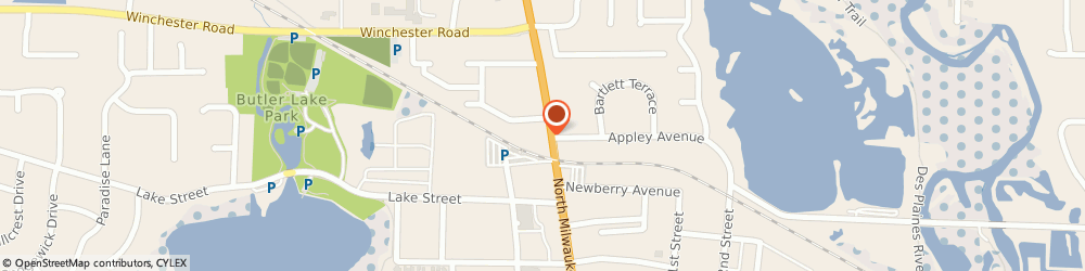 Route/map/directions to Farmers Insurance - Joseph Bertram, 60048 Libertyville, 801 N Milwaukee Ave