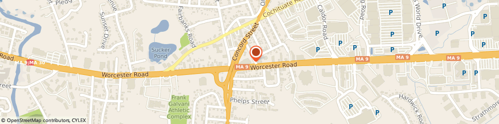 Route/map/directions to Citizens Bank, 01701 Framingham, 303 Worcester Rd