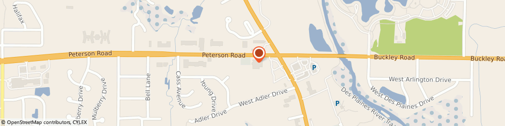 Route/map/directions to Ace Hardware, 60048 Libertyville, 155 Peterson Road