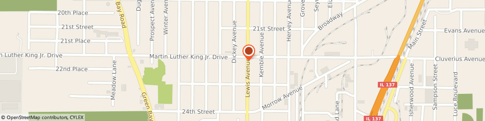 Route/map/directions to U-Haul Co., 60064 Chicago, 2005 Martin Luther King Jr Dr