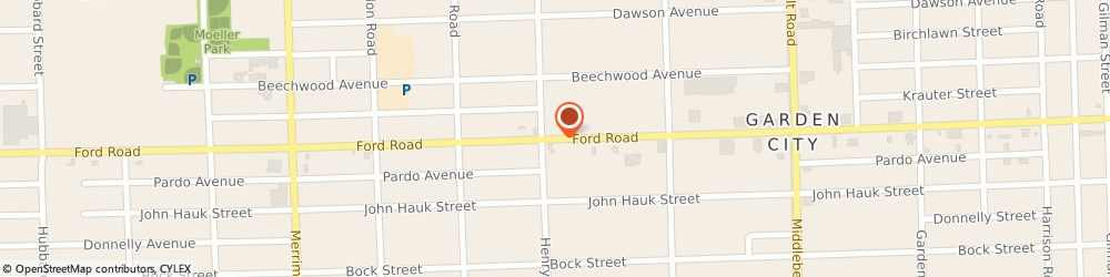 Route/map/directions to Tel-X Corporation, 48135 Garden City, 32400 Ford Rd
