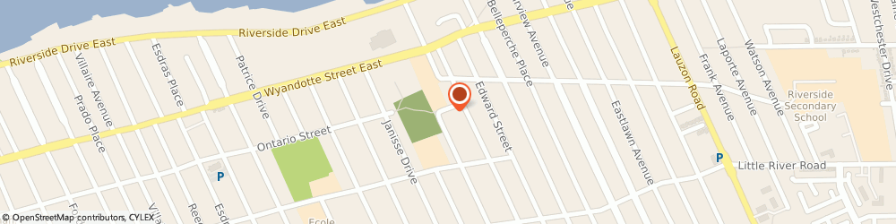 Route/map/directions to Riverside Minor Baseball Association, N8S 1W7 Windsor, 6865 Ontario St