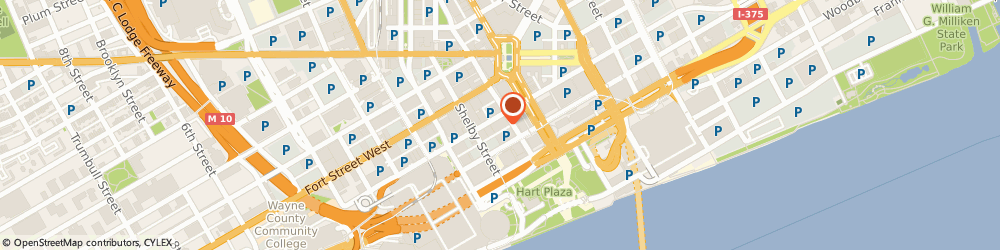Route/map/directions to Ampco System Parking, 48226 Detroit, 535 Griswold St Ste 926