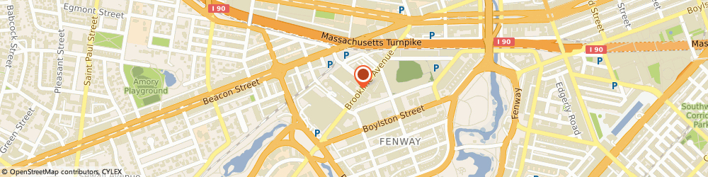 Route/map/directions to Residence Inn by Marriott Boston Back Bay/Fenway, 02215 Boston, 125 Brookline Avenue