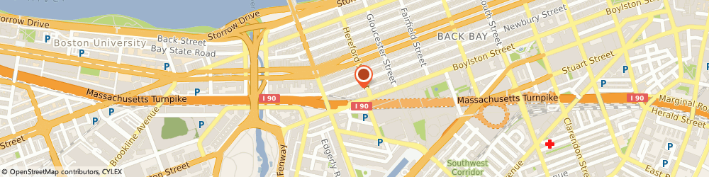 Route/map/directions to American Apparel, 02115 Boston, 330 Newbury St