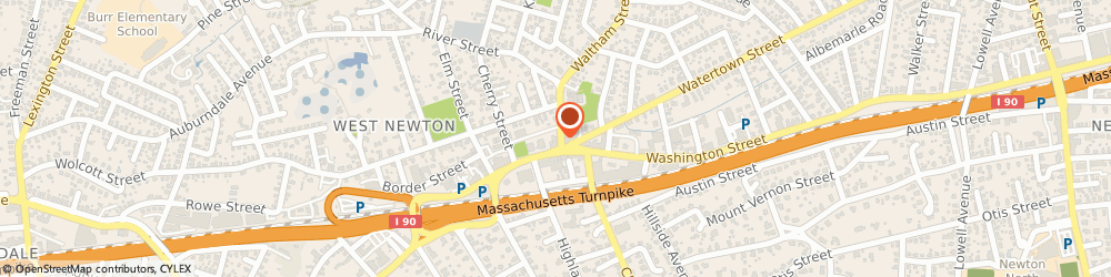 Route/map/directions to United States Postal Service, 02465 West Newton, 525 Waltham St
