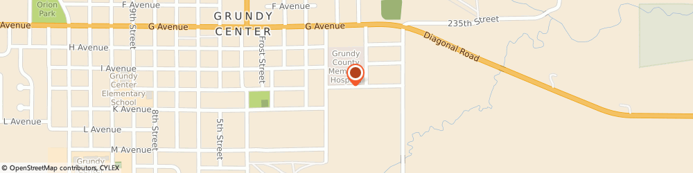 Route/map/directions to Grundy County Memorial Hospital - Long Term Care, 50638 Grundy Center, 201 East J Avenue